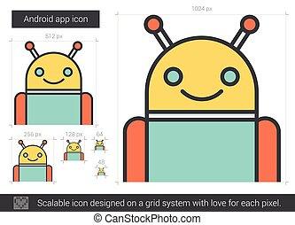 Robot line icon.
