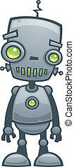 robot, lycklig