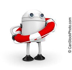 robot, noha, élet, buoy., 3, ábra