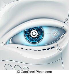 robot., oeil