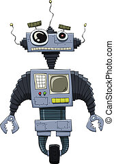 Robot on a white background, vector illustration