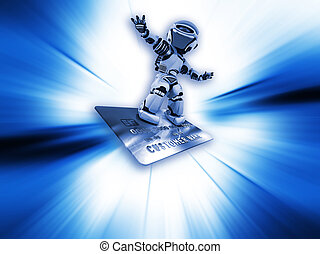 Robot on credit card