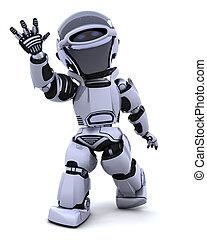robot, ondulación