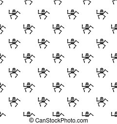 Robot pattern, simple style - Robot pattern. Simple...