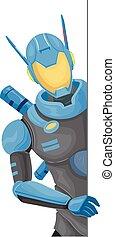 Robot Police Board Illustration