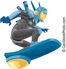 Robot Police Hover Illustration
