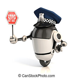 robot, policjant, handel