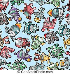 robot, próbka, seamless
