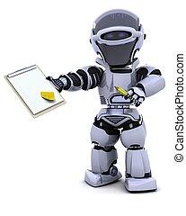 robot, presse-papiers