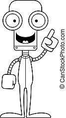 robot, pyjamas, idée, dessin animé