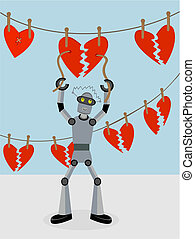 Robot repairing strings of broken hearts