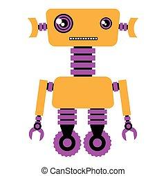 robot., rigolote, illustration