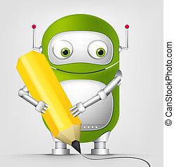robot, schattig