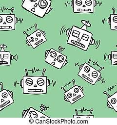 robot seamless pattern