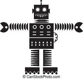 robot, silhouette