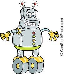 robot., sourire, mécanique, dessin animé