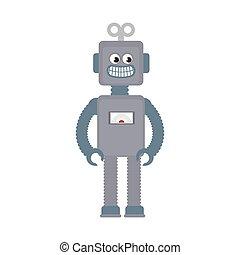 robot, speelbal, geitje