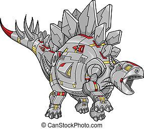 Robot Stegosaurus Dinosaur Vector