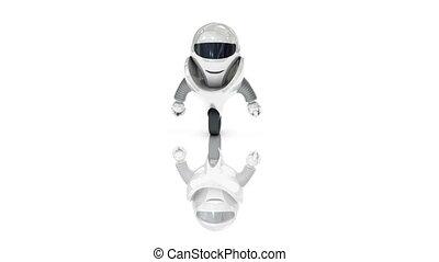 robot, szerkesztés, egy, bástya, noha, matt