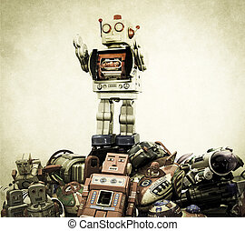 robot toys - big robot on top