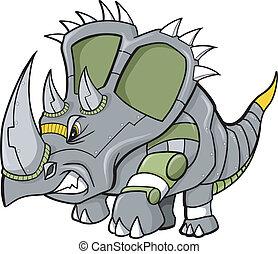 Robot Triceratops Dinosaur Vector