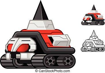 Robot Turtle Cartoon Character