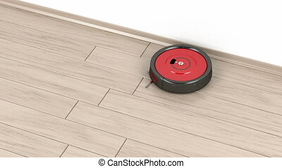 Robot vacuum cleaner on the floor