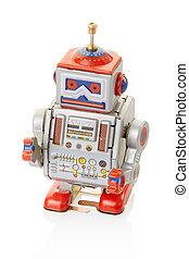 robot, vendimia, juguete