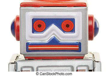 Robot vintage toy close up