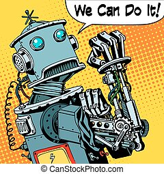 robot we can do it protest future power machine - The robot...