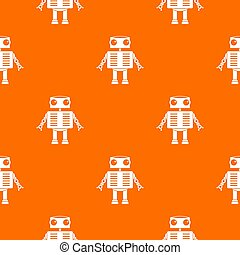 Robot with big eyes pattern seamless - Robot with big eyes...