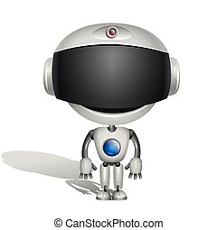 Robot with black screen