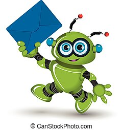 Robot with Envelope