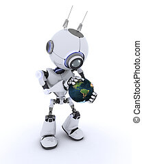 Robot with globe