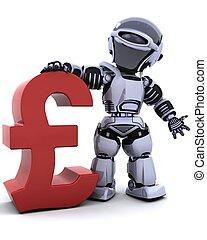 robot with pound symbol