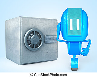 robot with safe