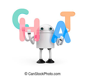 Robot with word CHAT