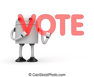Robot with word Vote