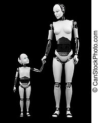 Robot woman with her child nr 2.
