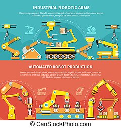 roboter arm, wohnung, zusammensetzung