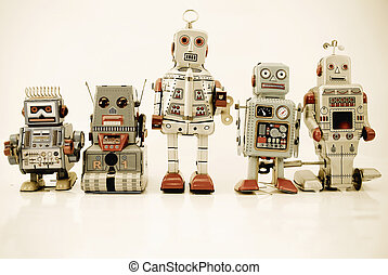 roboter, familie