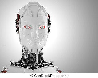 roboter, frauen, android, freigestellt