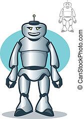 roboter, glücklich