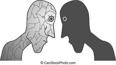 roboter, menschliche