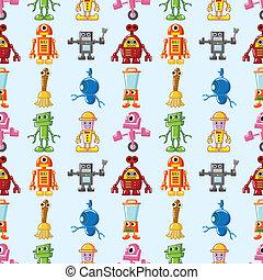 roboter, muster, seamless