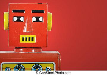 zinn spielzeug altes roboter eins gebraucht blick stockbilder suche stockfotos. Black Bedroom Furniture Sets. Home Design Ideas