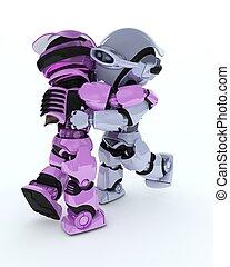 robotes, baile de salón