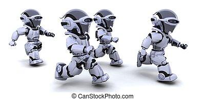 robotes, corriente