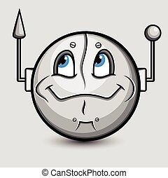 Robotic Alien Smiley