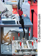 robotic arm for welding in factory